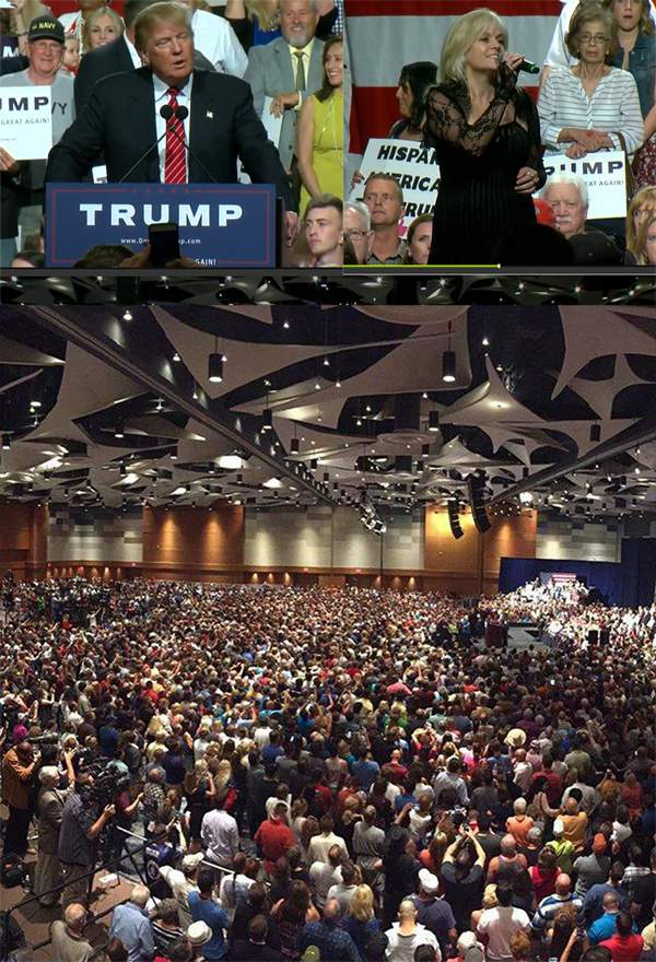 Joanne Jolee with Donald Trump Phoenix Convention Center, July 11, 2015
